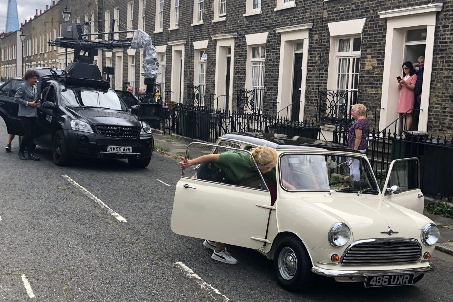 Car commercial shoot in Southwark